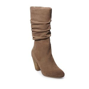 NWT Tan suede slouch boot!